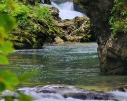 Vitngar and river Radovna jewel among Julian Alps rivers.