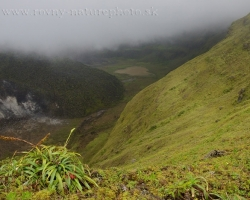 Still look back and leave*taking with La Soufriere volcano, the hot core and muddy crater lake.