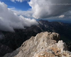 Clouds to the west of Triglav